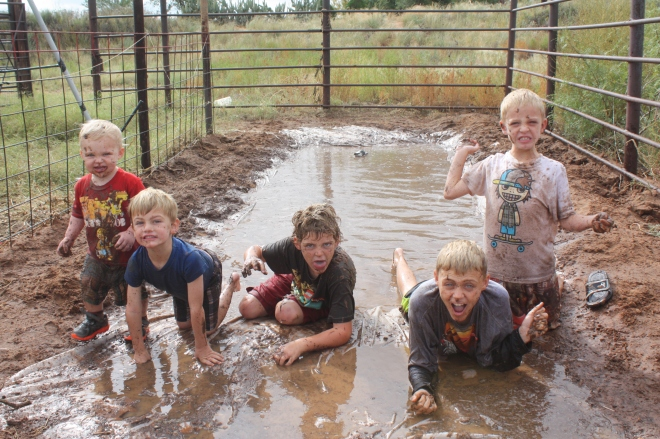 Boys and mud just go together.